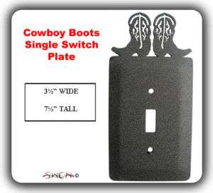 COWBOY BOOTS WESTERN HORSE Light Switch Plate Cover NEW