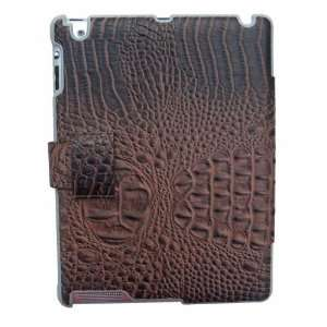 Crocodile Skin Stand Flip Leather Case Cover for iPad 2 and new ipad 3
