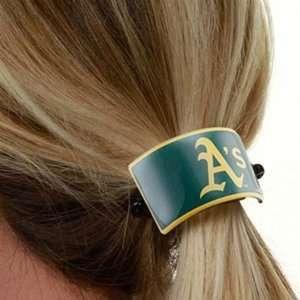 MLB Oakland Athletics Clip On Style Ponytail Holder W