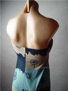 COLOR BLOCK Leaf Nature Motif Long Maxi fp Dress S