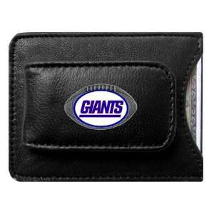 New York Giants NFL Card/Money Clip Holder (Leather)