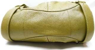 MICHAEL KORS GREEN LEATHER PLEATED STUDDED HOBO PURSE CROSSBODY BAG