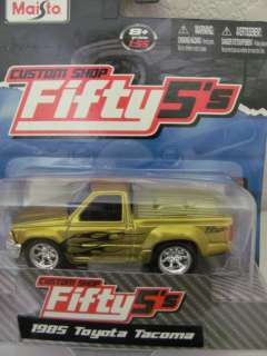 MAISTO CUSTOM SHOP FIFTY5 1985 TOYOTA TACOMA YELLOW