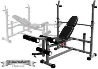 EF Olympic Weight Bench w/ Leg Curl Attachment EF 4421