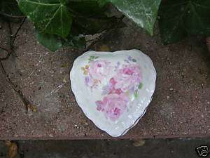 Rice & Co Floral Heart Trinket Box   Vintage