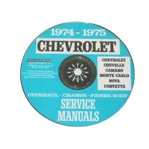 1974 75 Corvette Shop and Service Manual on CD Automotive