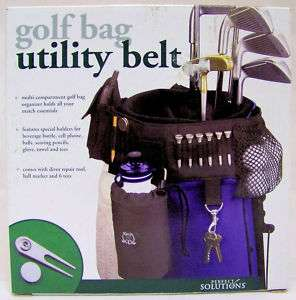 NIB GOLF BAG UTILITY BELT W/ TEES DIVOT REPAIR MARKER