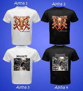 VOL.1 MEGADETH HARD ROCK TRASH HEAVY METAL BAND T SHIRT