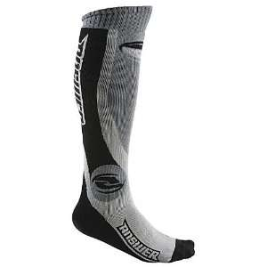 2011 Answer Knee High Moto Socks Thick Black/Gray  Sports