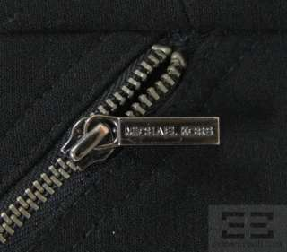 Michael Michael Kors Black Knit Asymmetric Multi Zip Dress Size 2