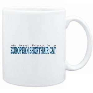 Mug White  My best friend is a European Shorthair  Cats