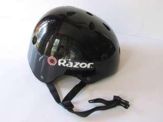 Razor Youth Black Helmet Retro Biker Style SZ Medium
