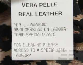 Dolce & Gabbana Black Leather & Knit Trim Cropped Bomber Jacket Size
