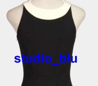 ANTONIO BERARDI Black White Wool Mod Print Dress 40 4