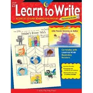 LEARN TO WRITE TEACHERS GUIDE Toys & Games