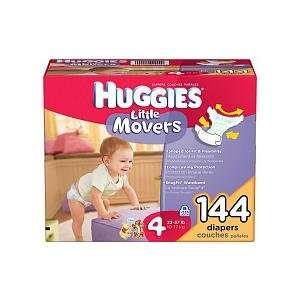 Huggies   Little Movers Diapers, Size 4 (22 37 lbs.), 144