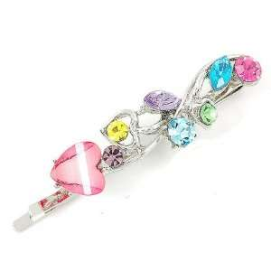 Perfect Gift   High Quality Dazzling Heart Hair Clip with Multi color