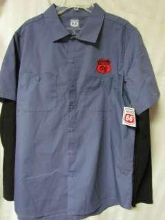 Phillips 66 Gas Oil Station Racing Mens Mechanics Retro Work Shirt
