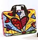 New ROMERO BRITTO SOFTCASE LAPTOP TOTE BAG Computer Case HEART Pop Art