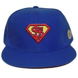 MLB ST LOUIS CARDINALS FITTED 8 SUPERMAN FLAT HAT CAP