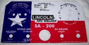 Lincoln Welder SA 200 L 5171 Texas Flag Control Plate