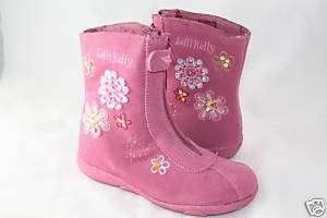 LELLI KELLY HILLARY PINK FLOWER DESIGN LEATHER BOOT NIB