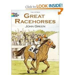 Racehorses (Dover Nature Coloring Book) [Paperback] John Green Books