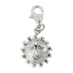 Sterling Silver Sun Face Charm Jewelry
