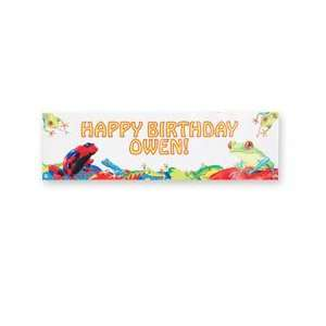 personalized frogs birthday banner: Health & Personal Care