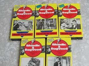 Lot of 5 Blondie and Dagwood VHS Movies