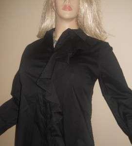 299 NWT New TORY BURCH womens black top blouse shirt size 8 M CLASSY