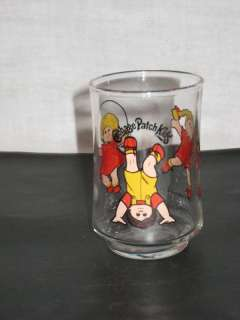 Cabbage Patch Kids glass copyright 1984 O.A.A inc.