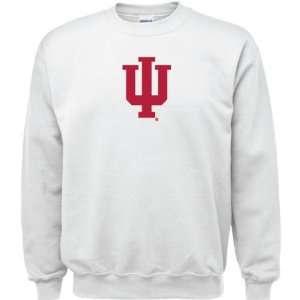 Indiana Hoosiers White Youth Logo Crewneck Sweatshirt