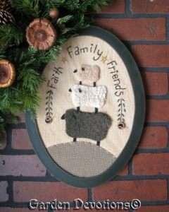 Button Up FAITH * FAMILY * FRIENDS Sheep WALL DECOR