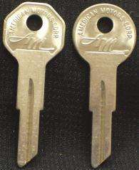 AMC Rambler Key Blanks Original NOS 1960 1961   1968