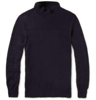 Maison Martin Margiela Panelled Cotton Rollneck Sweater  MR PORTER