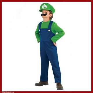 LUIGI KINDER KOSTÜM # Nintendo Super Mario Party Verkleidung 134/140