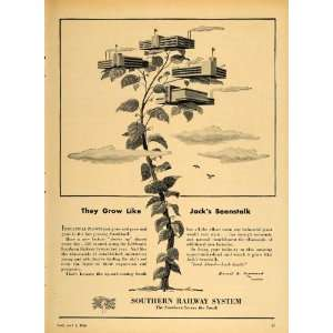 Sysem Railroad Jack Beansalk   Original Prin Ad Home & Kichen