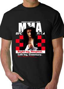 New MMA K1 UFC Mirko Cro Cop Filipovic Mens T shirt
