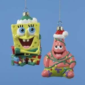 Pack of 6 SpongeBob Squarepants & Patrick Star Glass Christmas