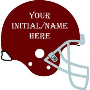Customizable Football Helmet   Vinyl Wall Decal