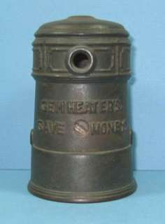 OLD CAST IRON ADV GEM STOVE OR FURNACE BANK GUARANTEED OLD & AUTHENTIC
