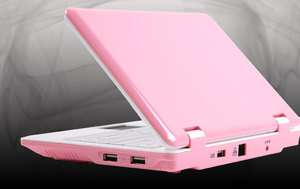 Netbook 7 Zoll Mini Laptop Notebook ANDROID 2.2 Computer Pc pink/weiss