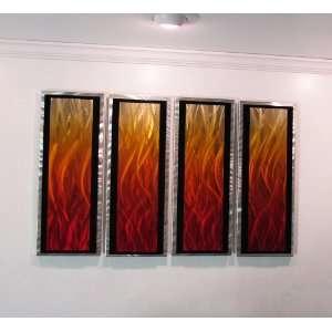 Inferno 3d Panels Modern Abstract Metal Wall Art