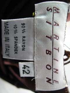 MARTINE SITBON Brown Stretch Full Length Dress Size 42
