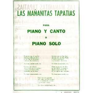 Sheet Music Las Mananitas Tapatias para Piano Y Canto o