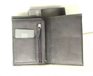 KENNETH COLE Black Leather Travel Passport Holder Case Wallet NWT NEW