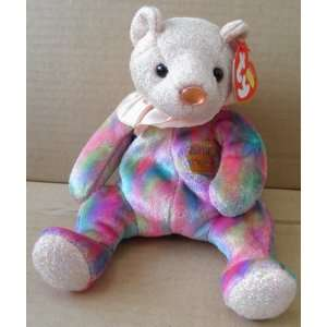 TY Beanie Babies Opal October Birthday Bear Stuffed Animal