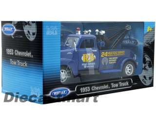 WELLY 124 1953 CHEVROLET ROAD SERVICE TOW TRUCK NEW DIECAST MODEL