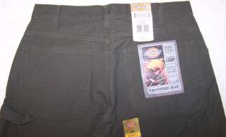 Dickies Mens Carpenter Jeans Relaxed Fit Moss Green NWT